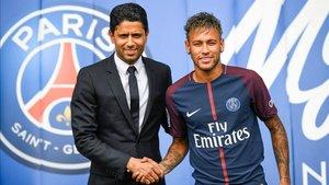 La presentación de Neymar con el PSG