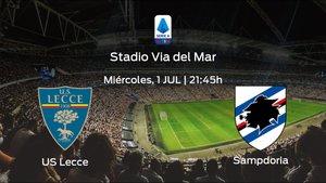 Previa del partido: US Lecce - Sampdoria