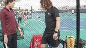 Puyol y Muguruza entrenan a fútbol y tenis juntos