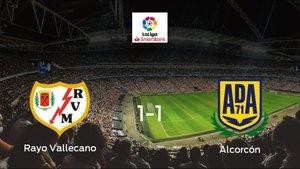 El Rayo Vallecano y el Alcorcón se reparten los puntos tras su empate a uno