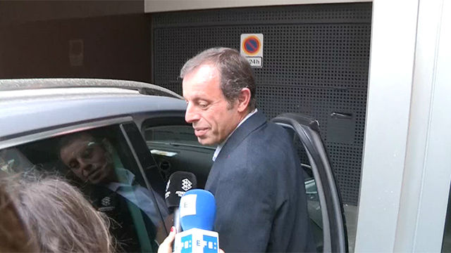 Sandro Rosell ha respondido a los periodistas tras quedar en libertad