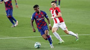 Semedo, en una acción contra el Athletic en el Camp Nou