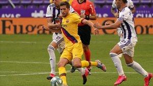 Sergi Roberto jugó otro partido muy completo en Valladolid