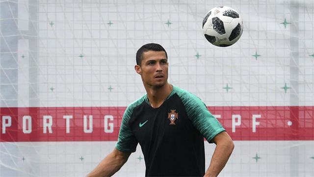 Último entrenamiento de Portugal antes de medirse a Marruecos
