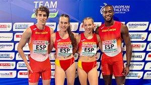 En una prueba no puntuable, el 4x400 mixto batió el récord de España (3:20.47)