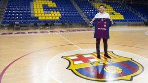 Abel Serdio, en el Palau con la camiseta del Barça Lassa