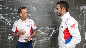 Alberto Puig y Héctor Martín, de Honda
