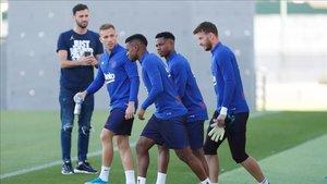 Ansu Fati y Arthur no han entrenado con el grupo
