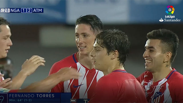 Así fue el último gol de Torres con el Atlético de Madrid