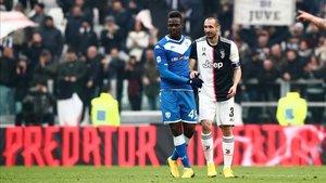 Balotelli marcó 5 goles en 19 partidos con el Brescia