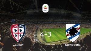 El Cagliari se lleva tres puntos tras vencer 4-3 a la Sampdoria