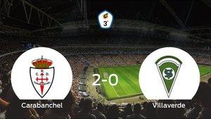 El Carabanchel consigue la victoria frente al Villaverde (2-0)
