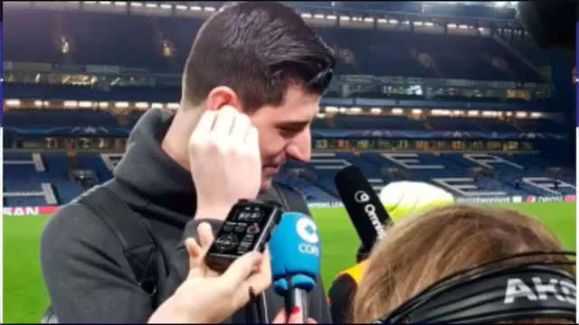 Courtois: Tengo a mis dos niños en Madrid y eso no es fácil