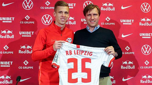 Dani Olmo es presentado por el RB Leipzig