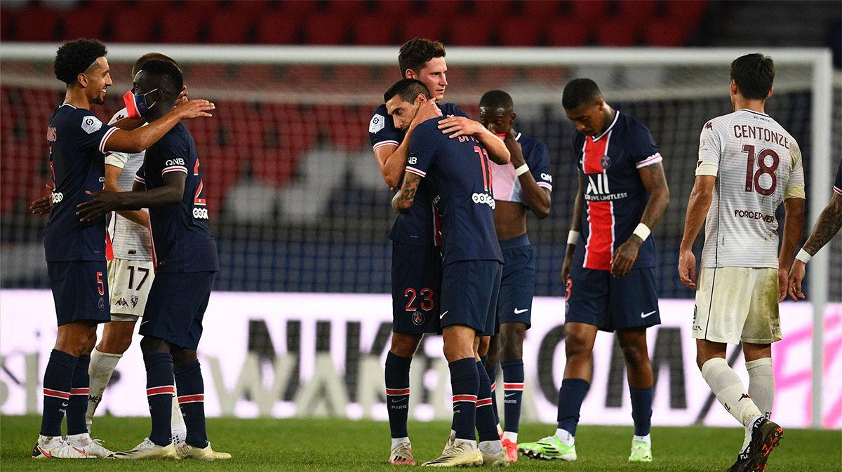 Dos expulsiones para el PSG y victoria en el 95: así fue el partido ante el Metz