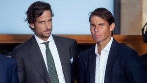 Feliciano y Nadal, en el Mutua Madrid Open de 2019