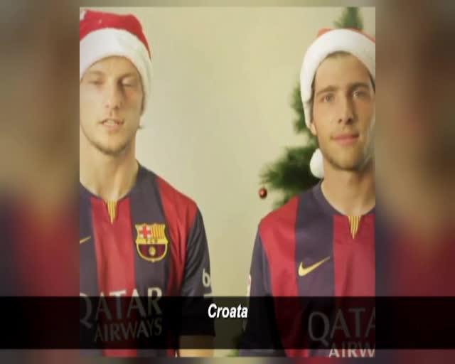 Felicitaciones De Navidad Del Fc Barcelona.La Felicitacion De Navidad Mas Universal Del Barca