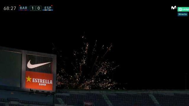 ¡Fuegos artificiales para celebrar el descenso del Espanyol!