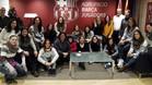 El fútbol femenino del FC Barcelona ha desembarcado en la Agrupación Barça Jugadores
