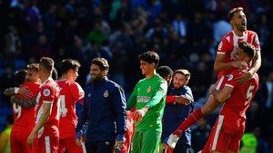 El Girona recibió un gran impuslo con su victoria ante el Madrid