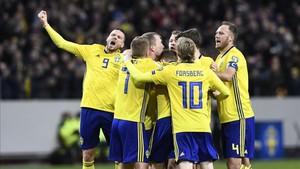 El gol de Johansson hace ahora favorita a Suecia