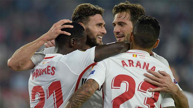 Goleada del Sevilla y líderes de grupo