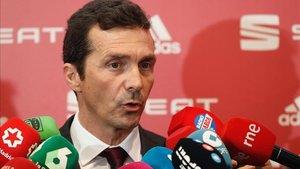 Guillermo Amor representó al Barça en el sorteo de Copa