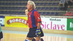 Jordi Villacorta se retiró pero aún jugó con los veteranos del Barça