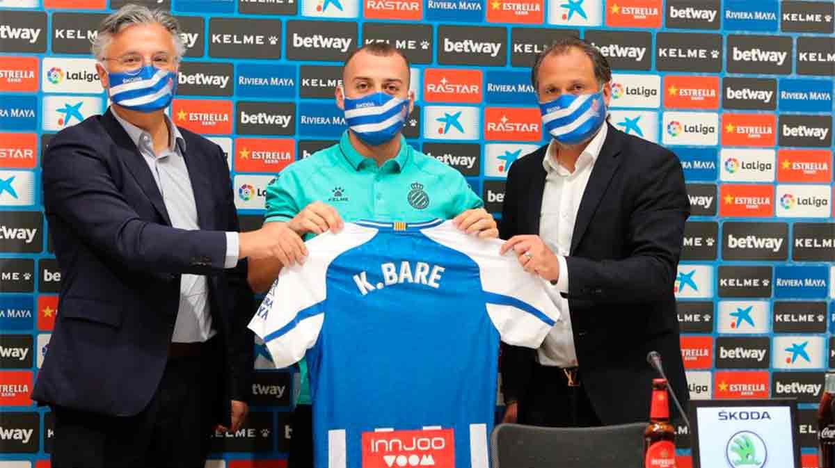 Keidi Bare, presentado como nuevo jugador del Espanyol
