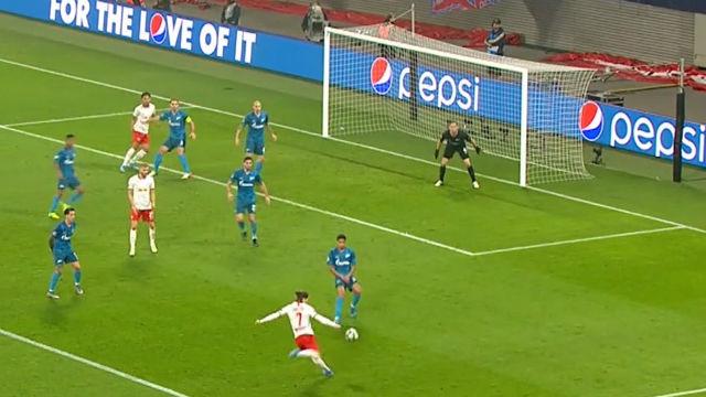 El Leipzig imita el gol de Roberto Carlos pero de volea ¡Qué escándalo!