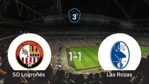 El Logroñés se queda en Tercera División la temporada que viene tras empatar en la vuelta (1-1)