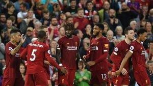 Los jugadores del Liverpool empezaron a lo grande