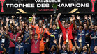 Los jugadores del PSG celebran la conquista de la Supercopa de Francia 2017 en Tánger