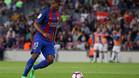 Marlon Santos durante el Barça-Eibar de la Liga 2016/17 disputado en el Camp Nou