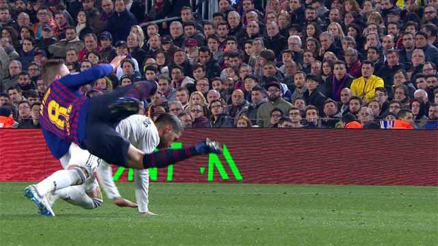 Otra más de Ramos: Mateu Lahoz perdonó la expulsión al capitán del Madrid