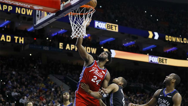 Philadelphia tumbó a los Warriors en el homenaje de Embiid a Bryant