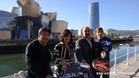 Presentación del Keler Bilbao Open delante del Guggenheim
