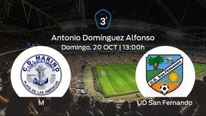 Previa del encuentro: el Marino recibe al San Fernando en la novena jornada