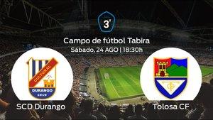 Previa del encuentro: el SCD Durango recibe al Tolosa CF en la primera jornada