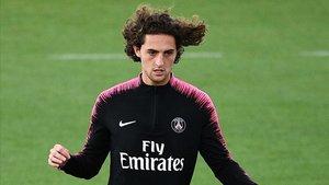 Rabiot, durante una de sus últimas apariciones con la camiseta del PSG