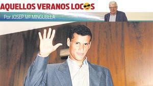 Rivaldo a su llegada al FC Barcelona