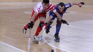 Sergi Panadero se hizo una herida tras recibir un impacto de bola