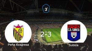 El Subiza vence 2-3 en el feudo de la Peña Azagresa