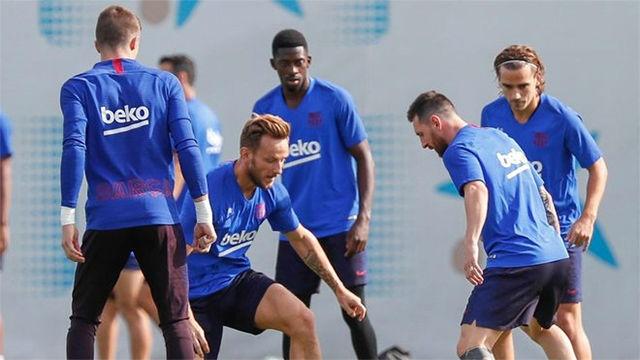 Último entrenamiento antes del encuentro ante el Villarreal