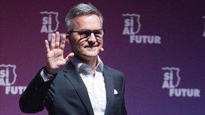 Víctor Font en el acto de presentación de Sí al Futur