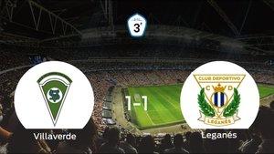 El Villaverde y el Leganés B suman un punto tras empatar a uno
