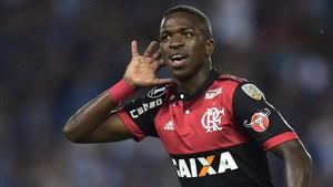 Vinicius deslumbra en el Flamengo