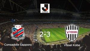 El Vissel Kobe derrota al Consadole Sapporo en el Sapporo Dome (2-3)