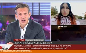 Vuelve a la televisión la negacionista del coronavirus: nos merecemos una fiesta