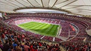 El Wanda Metropolitano registró una entrada espectacular